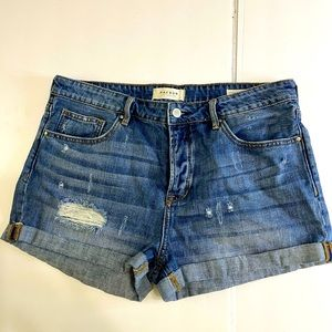 Pacsun girl friend button fly jean shorts size 30